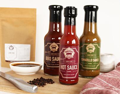 Morepork BBQ Restaurant Packaging and Print Design