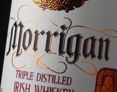Label design for Irish whiskey