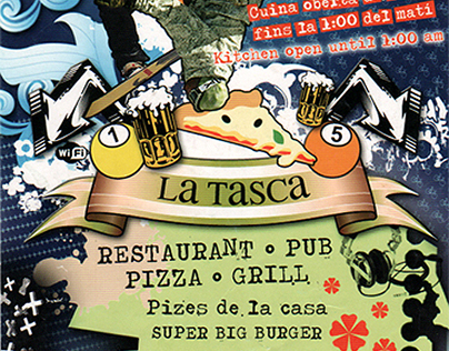 Flyer A6 • Restaurant Bar en haute montagne • 2008