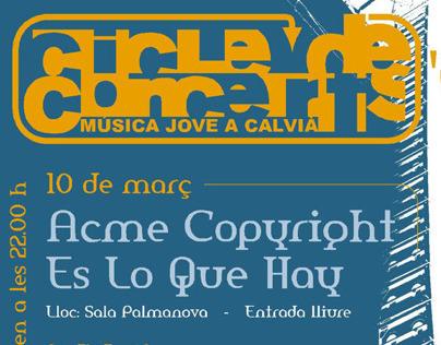 Cartells per concerts de l'Ajuntament de Calvià