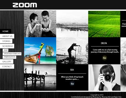 ZOOM - Vietnam OpenTour website concept