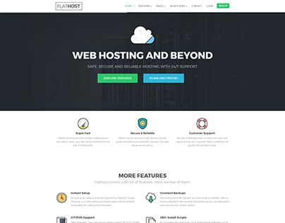 Flathost - Hosting Website Template - v4