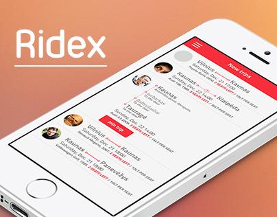 RIDEX | Ride sharing app