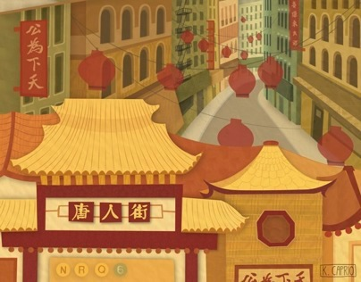 Chinatown Travel Poster