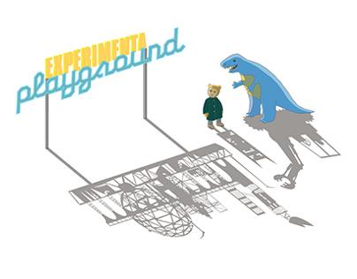 Program booklet design for Experimenta Playground