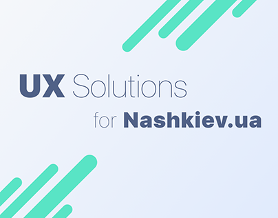 UX Solution for Nashkiev.ua