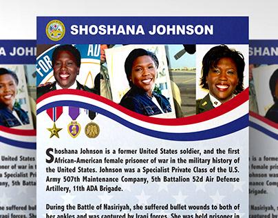 Shoshana Johnson Poster & Banner