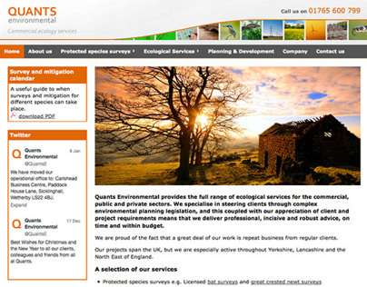 Quants Environmental website