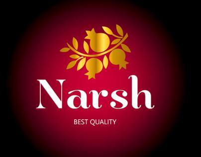 Narsh - Pomegranate Sauce Branding