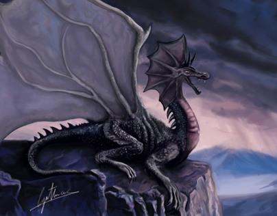 Dragon - Concept art -digital painting