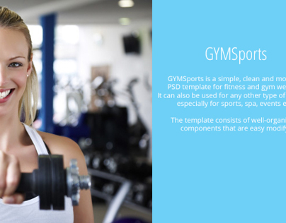 GYMSports - Free PSD Template