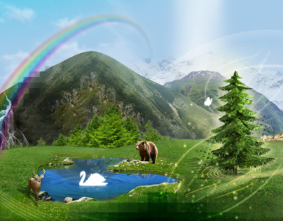 seasons in a surreal landscape