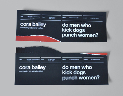 UJ Animals In Law: Cora Bailey Poster