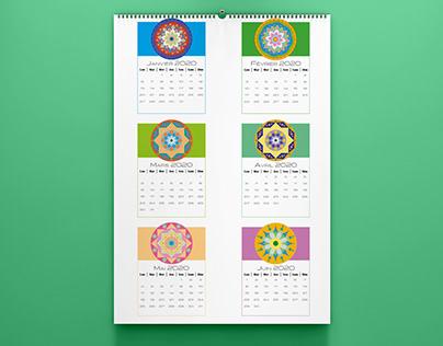 Calendrier Mandala 2020 au format PDF à imprimer