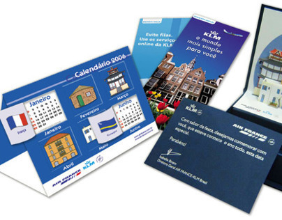 Folder Calendário - KLM/Air France