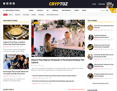 Cryptoz - Bitcoin & Cryptocurrency Joomla Template