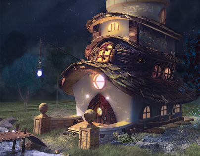 Illustration - night observatory
