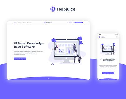 Landing Page Redesign - Helpjuice