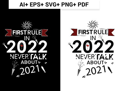 Happy New Year Typography T-shirt Design