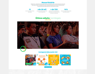 Projeto: Educação 360 | Desenvolvimento de site