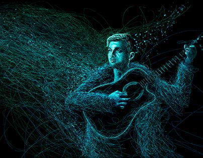 Martín y su guitarra