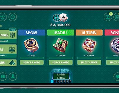 Poker Hompage Dashboard (Inspired by Zynga)