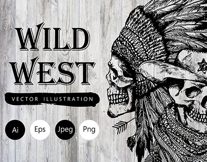 Wild West. Vector illustration