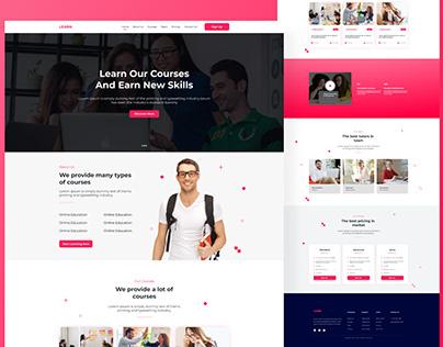 E-Learning Landing Page Design, UI Design
