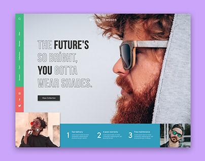 Sunglasses UI/UX design