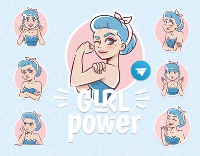 """Sticker Pack """"Girl Power"""""""