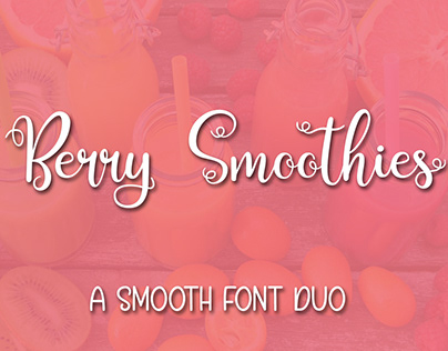 Berry Smoothies Font Duo