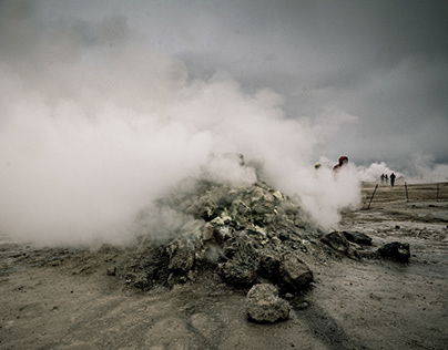Steam plumes Iceland