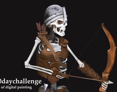 Concept of skeleton archer for game
