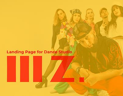 Landing Page for Dance Studio 3Z