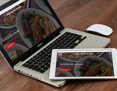 Felicity Bar & Grill Restaurant Website Design