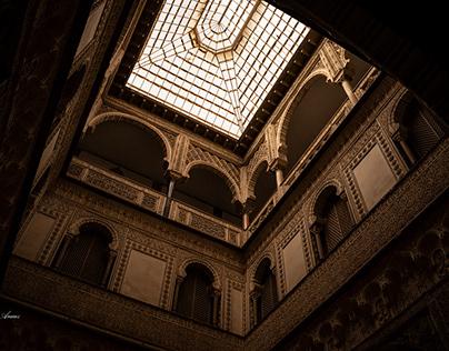Siluetas en Real Alcázar - Sevilla