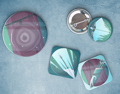 Set Arrow stickers