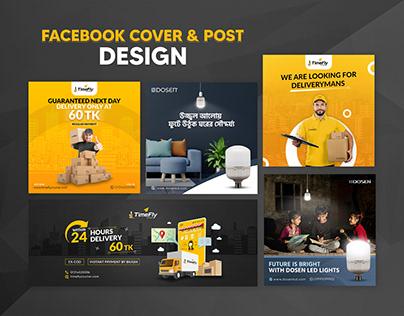 Delivery Service & LED Bulb Facebook Post Design