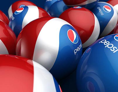 Pepsi Rubber Ball/Bottle