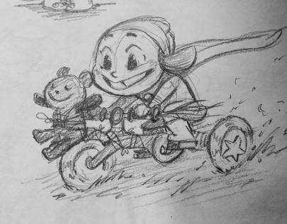 Sketchbook: 'Adventure Girl'