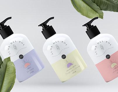Alma del Sol - Natural Creams Branding