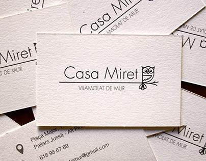 """""""Casa Miret de Mur"""" logo"""