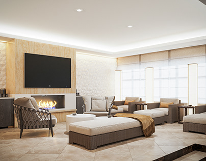 Reconstruction of the hotel spa relaxation room