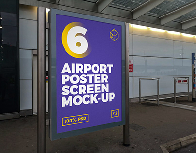 Airport Poster Screen Mock-Ups 6