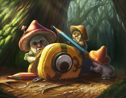Minion in mystery forest