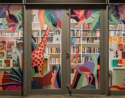 Jungle installation window display