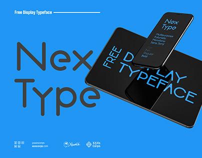 NexType - Sans serfi Dislpay typeface free download