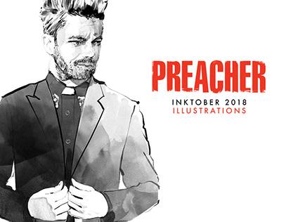 Preacher portrait illustrations