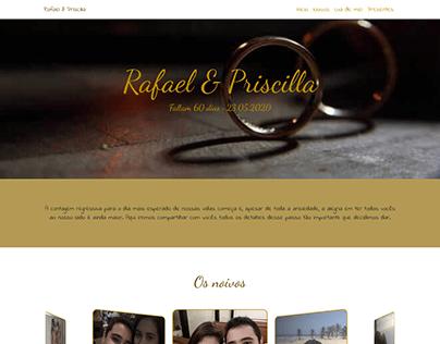 Site casamento Rafael e Priscilla