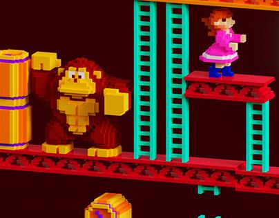Donkey Kong - Voxel Art